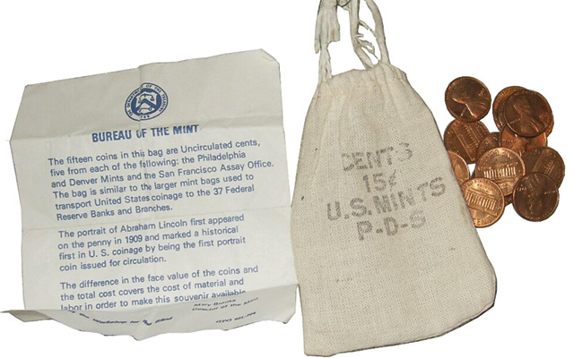 1972 and 1973 'penny bags' offered by U S  Mint still