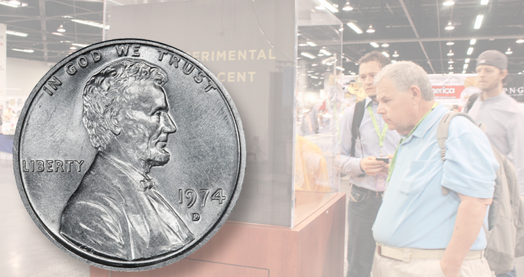 1974-D aluminum cent draws crowd at ANA World's Fair of Money