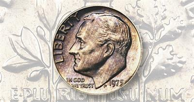 Proof 1975-S, No-S Roosevelt dime