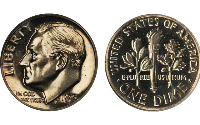 2015 P Roosevelt Dime Roll 50 Coins