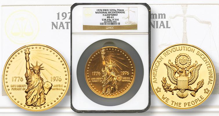 Despite Design 1976 Bicentennial Medal Market Weak Coin