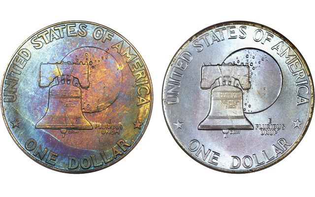 Collector sees differences in lettering on Bicentennial quarters and halves