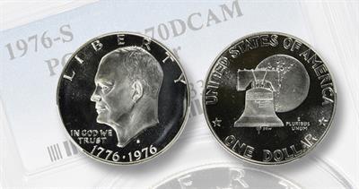 1976-S Eisenhower dollar