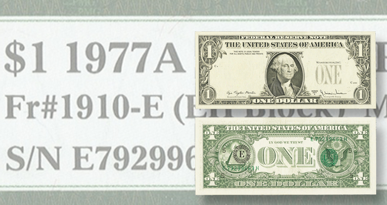 Overprinting error on $1 note is obvious, but something else makes this note special