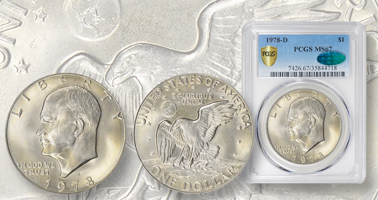 1978-D Eisenhower dollar stands out from all the others