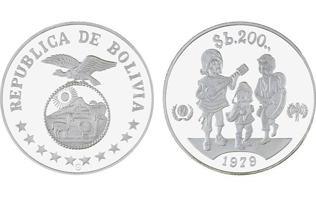 1979-bolivia-200-pesos-children