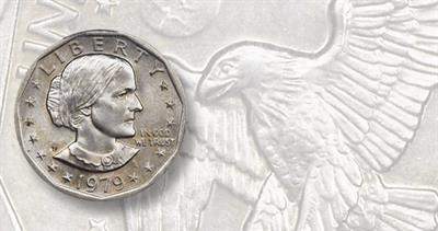 1979-P Susan B. Anthony dollar coin