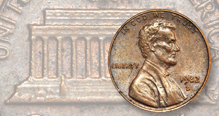 Unique 1982-D Lincoln, Small Date cent in copper heading to auction
