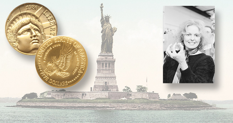 Statue of Liberty gold $5 commemorative coin flawless by design