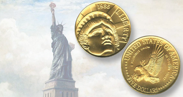 Elizabeth Jones' gold Lady Liberty design proves popular: From the Memory Bank