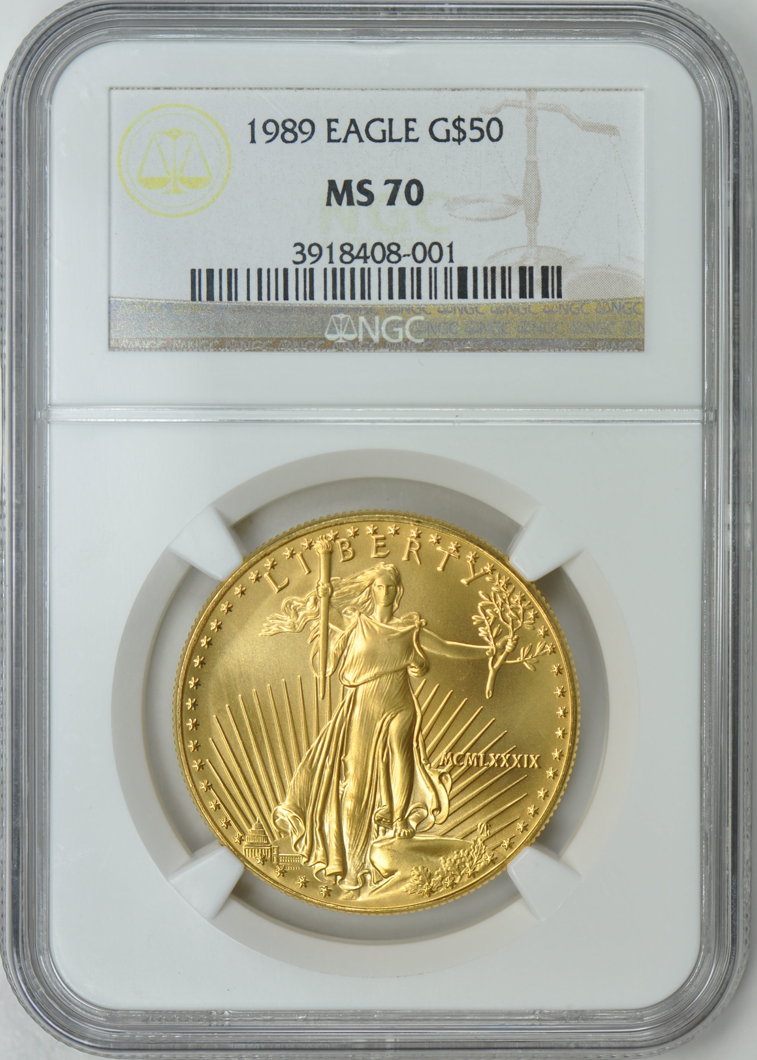 1989 Mint State 70 50 Gold Eagle At 22 550