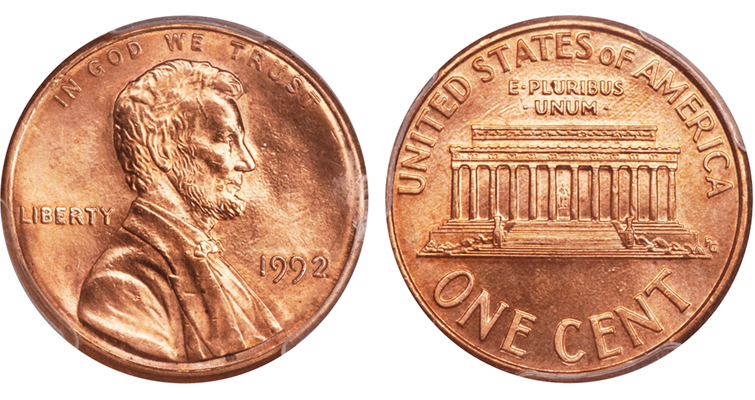 1992 Lincoln cent merged