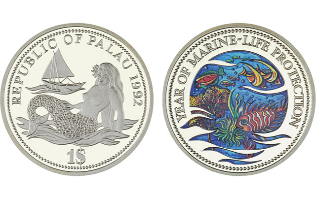 1992-palau-proof-fish-dollar-with-certificate