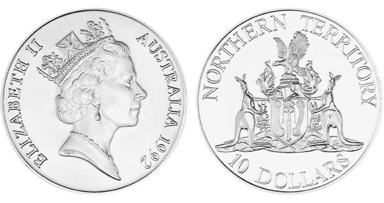 1992australia10dolnorthernterritorycoin
