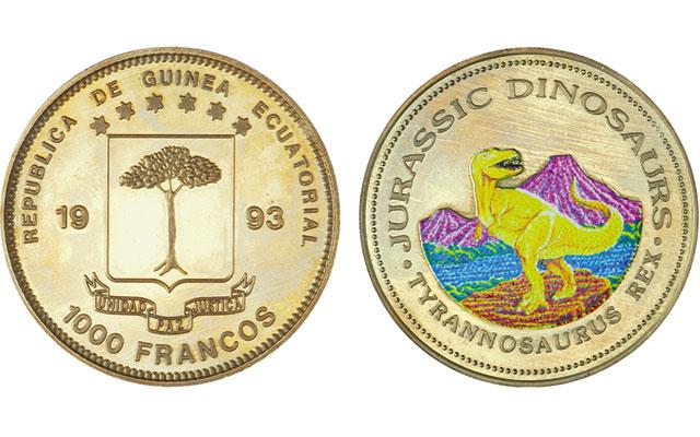 1993-equatorial-guinea-t-rex-1000-francs
