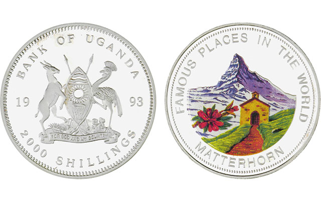 1993-uganda-uncirculated-2000-shillings-matterhorn-silver-proof