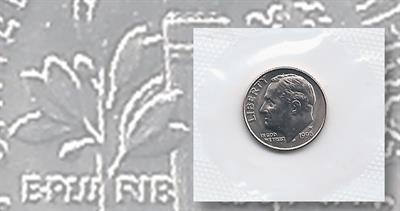 1956-D ROOSEVELT SILVER DIME IN FINE CONDITION H-13-18