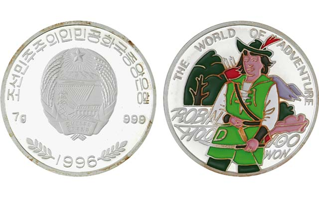 1996-north-korea-100-won-robin-hood-coin
