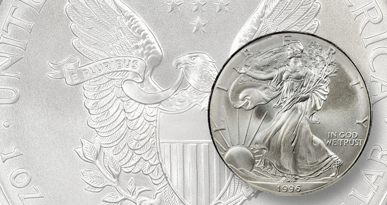 1996 American Eagle silver coin popular, now: Making Moderns