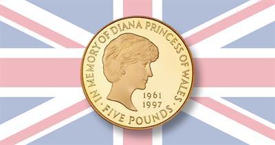 1997 Proof gold £5 Princess Diana coin