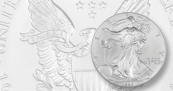 1999-silver-american-eagle-ms-70-lead