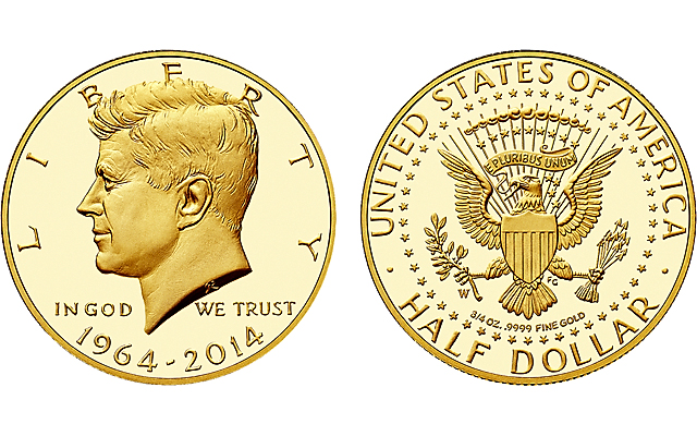 The dual-date 1964-2014 Proof gold Kennedy half dollar is among the U.S. Mint products that has caused a stir on its first day of availability in recent years.