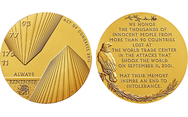 U.S. Mint to offer bronze versions of three Fallen Heroes of 9/11 congressional gold medals