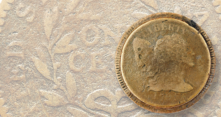 1795 Liberty Cap, Reeded Edge cent surfaces after more than five decades in hiding