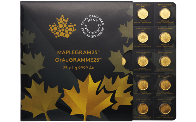 Royal Canadian Mint issues 1-gram gold 50-cent Maple Leaf coins