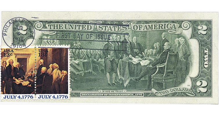Postally canceled $2 Federal Reserve note