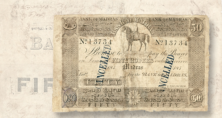 Bank of Madras note
