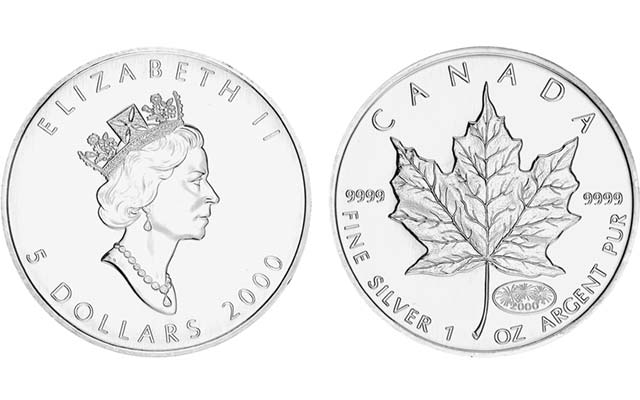 2000-canada-silver-maple-leaf-5-dollar-bullion