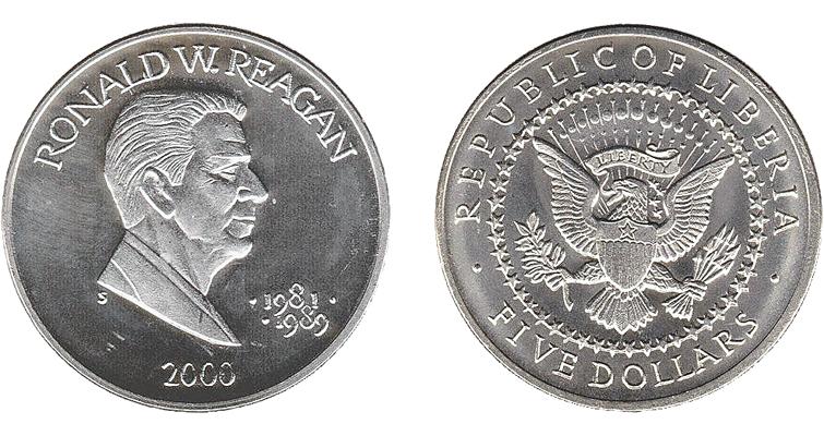 2000-liberia-ronald-reagan-five-dollar-coin
