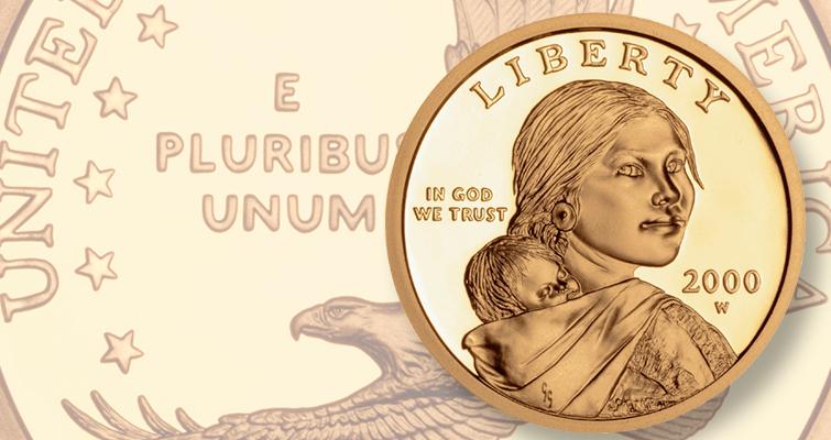 2000 W Sacagawea Gold Dollar