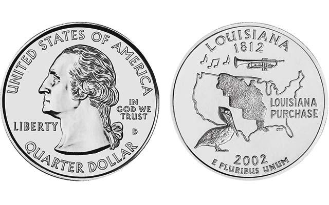 2002-louisiana-state-quarter-dollar
