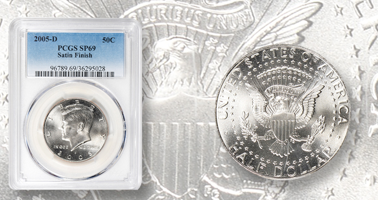 "2005 D Kennedy /""Satin/"" Half Dollar ~ Uncirculated from Original Mint Set"