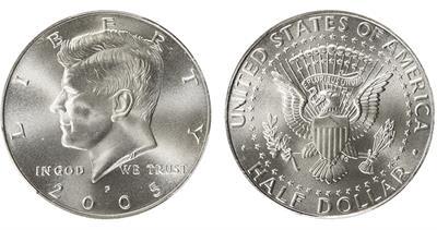 2005 Kennedy half dollar