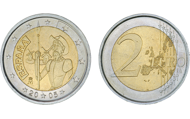 Designs for Europe's ringed-bimetallic €2 commemorative coins feature wide variety