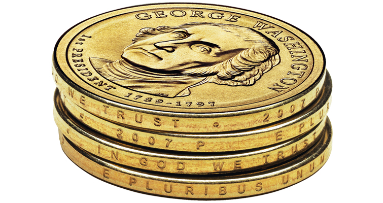 2007 Presidential dollar stack