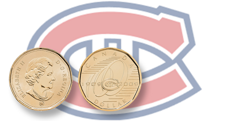 Circulating dollar coin celebrates Canadiens hockey team