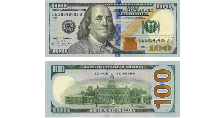 current generation of $100 Federal Reserve note