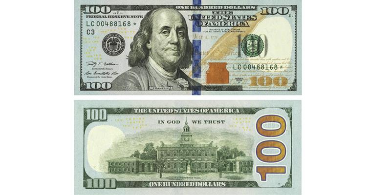 Series 2013 100 dollar notes on way to circulation | Coin ... 100 Dollar Bill 2013 Back