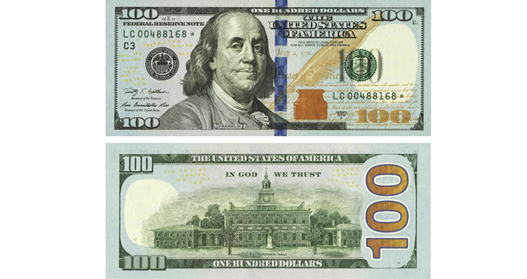 Series 2009A $100 Federal Reserve note