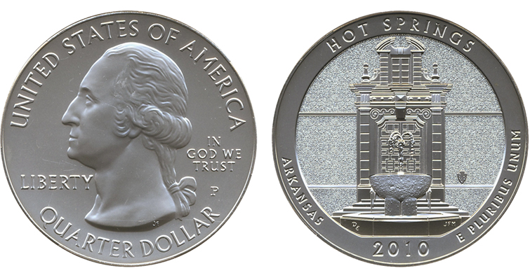 2010-P Hot Springs Uncirculated 5-ounce silver merged