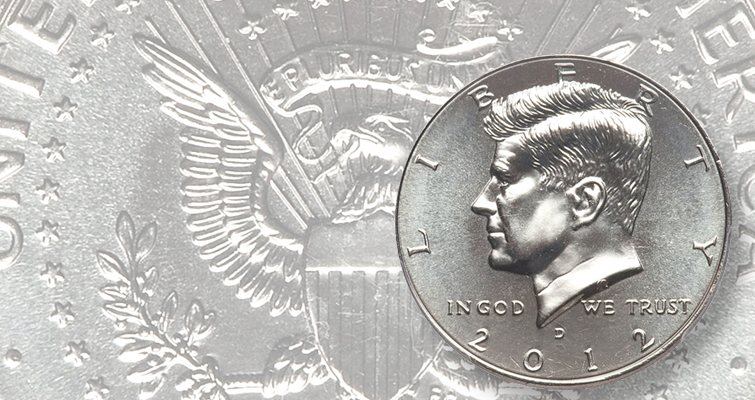 finest-certified 2012-D Kennedy half dollar