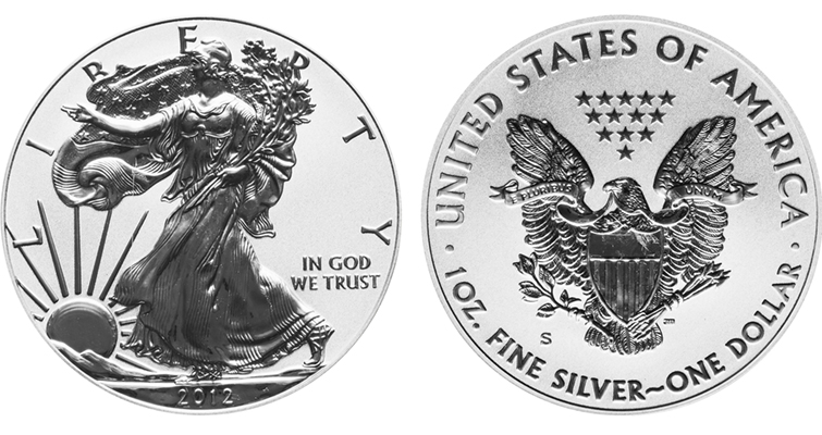 2012-S Reverse Proof silver Eagle