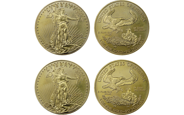 Numismatic Guaranty Corp. encounters fake gold American Eagles
