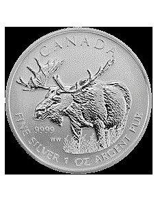 Each 1 OZ .9999  Pure Silver Limited Mintage  Wolf  Grizzly  Cougar  Moose