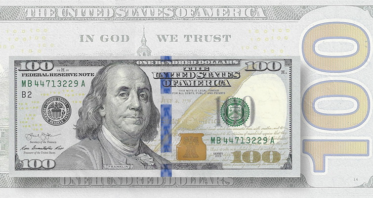 Fourth bank orders Series 2013 $100 Federal Reserve notes
