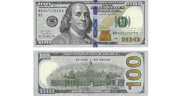 Series 2013 $100 note